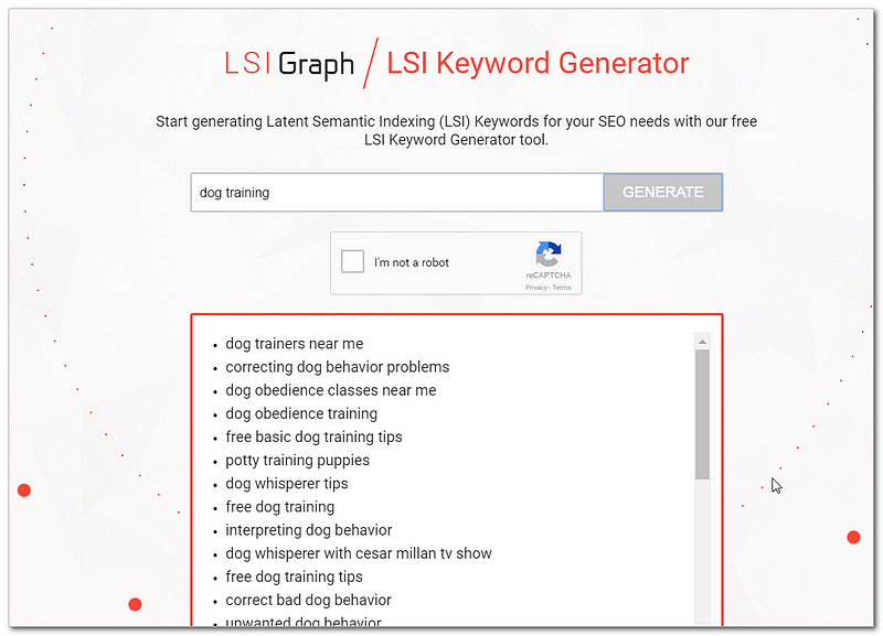 Use LSI Graph to find related searches to include in your content